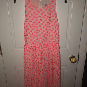 J. CREW pink floral dress